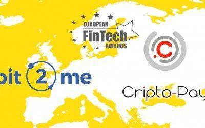 Bit2Me y Cripto-Pay nominadas a los premios europeos FinTech