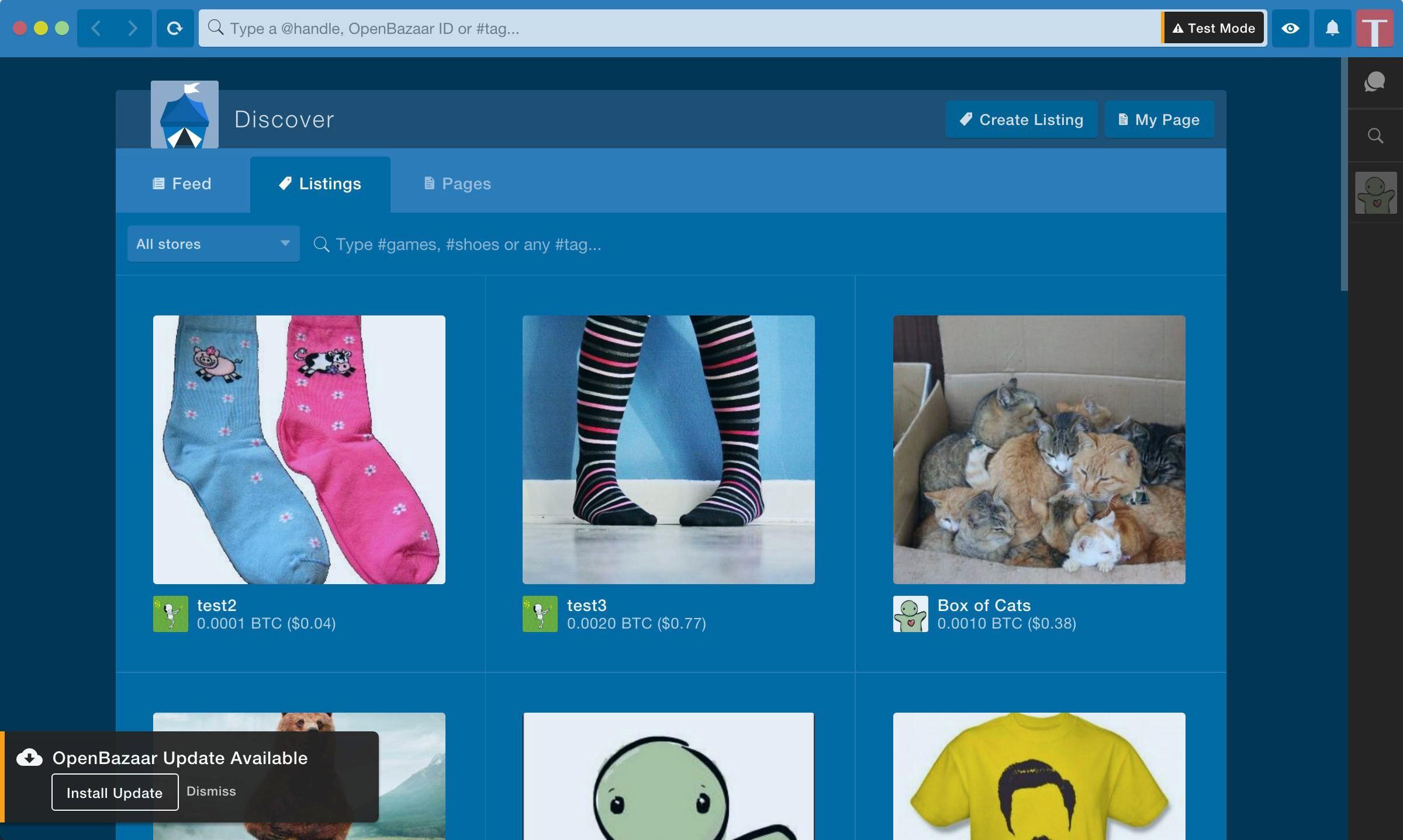 OpenBazaar online-shop