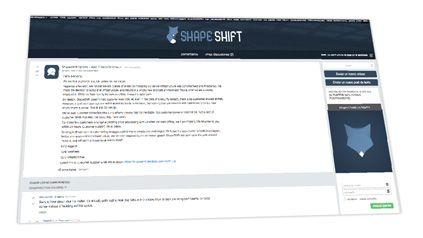 Comunicado de Shapeshift
