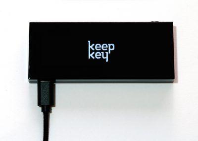 KeepKey iniciándose