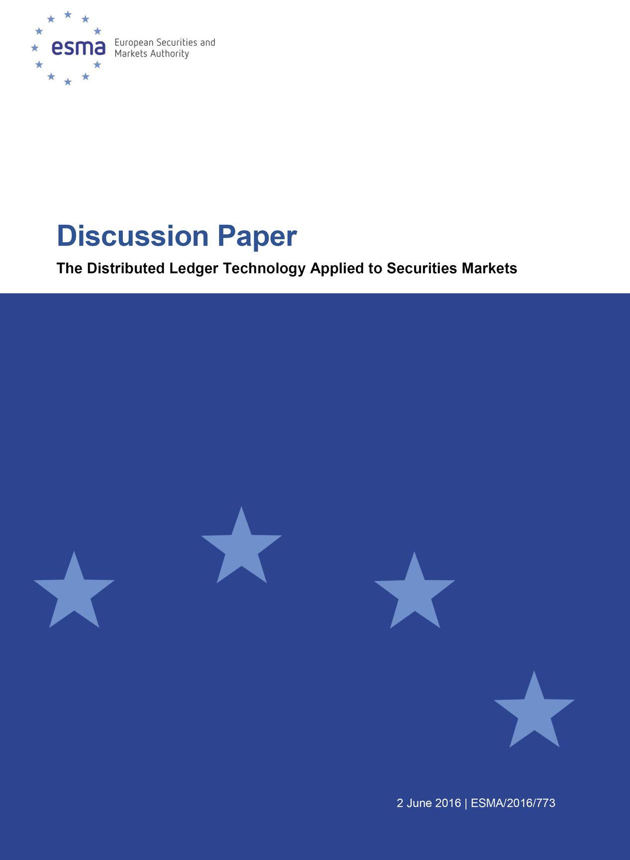 Documento para la consulta pública sobre el uso potencial de la tecnología del libro mayor distribuido - EAVM